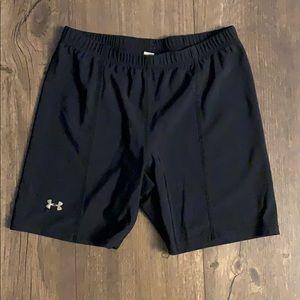 Under armor black spandex shorts